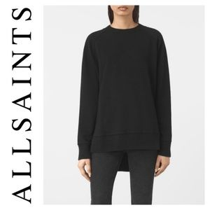 All Saints Black Nia Knit Sweater Sweatshirt